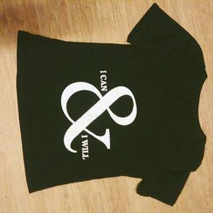 "Tops - NWOT ""I can"" tee shirt"
